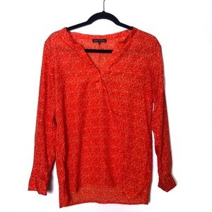 Violet & Claire Orange Long Sleeve Blouse Small